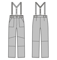 Pants with braces vector image vector image