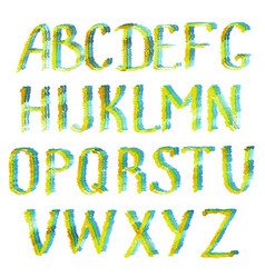 colorful english alphabet letters vector image