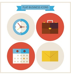 Flat Business Website Icons Set vector image