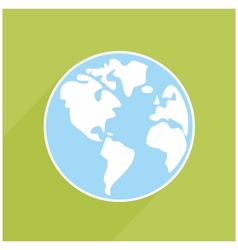 Hand drawn earth with shadow on green background vector image vector image