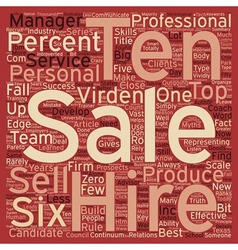 Hire A Six text background wordcloud concept vector image