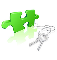 key to the problem concept vector image vector image