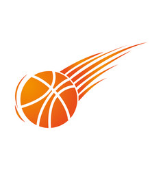 silhouette colorful basketball icon sport vector image