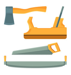 deforestation tools set of icons on vector image vector image