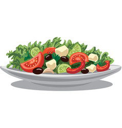 Fresh greek salad vector