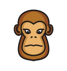 majmun icon3 resize vector image vector image