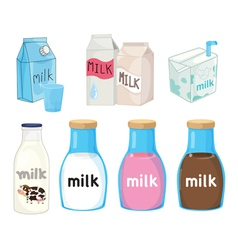Milk collection vector image vector image
