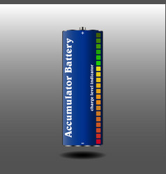 rechargeable battery with charge indicator vector image vector image