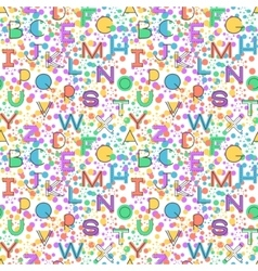 Seamless pattern alphabet background vector image vector image