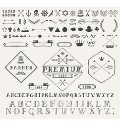 Set design elements labels Hand drawn vector image vector image