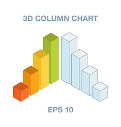 3d column charts vector