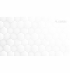 3d hexagon pattern white abstract background vector image