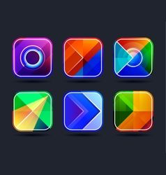 Abstract App Icons Frames vector