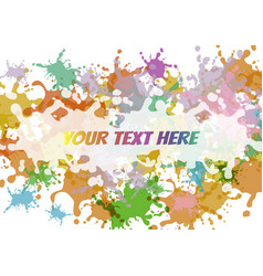 abstract colorful splash on white background vector image