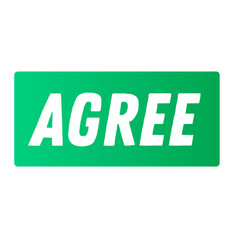 Agree advertising sticker vector