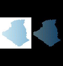 Algeria map hex tile abstraction vector
