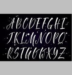 Alphabet brush lettering vector