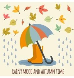 Autumn items vector image