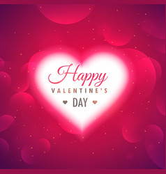 beautiful glowing heart on pink background for vector image