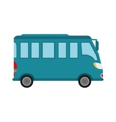 Bus vehicle transportation icon vector