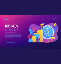 Business opportunity concept landing page vector