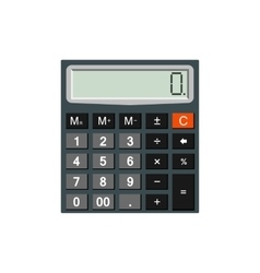 Calculator isolated on white background vector