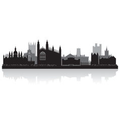 Cambridge city skyline silhouette vector