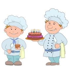 cartoon cook vector image