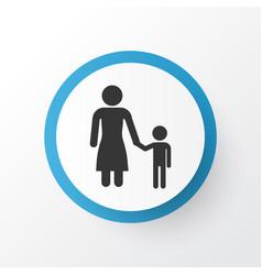 child icon symbol premium quality isolated madame vector image