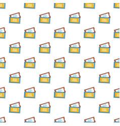 cinema tickets pattern vector image