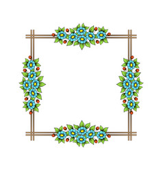 color flowers square frame vector image