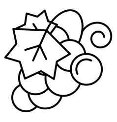 Concord grape icon outline style vector