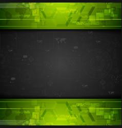 Dark tech graphic drawing vector image