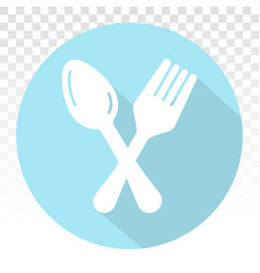 Dining flat icons with cutlery concept spoon fork vector