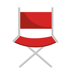 director chair isolated icon vector image