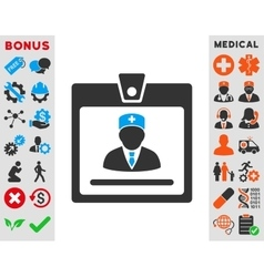 Doctor Badge Icon vector