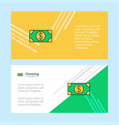 dollar abstract corporate business banner vector image