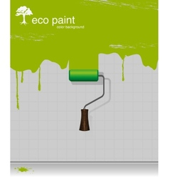 drawing eco paint-roller vector image