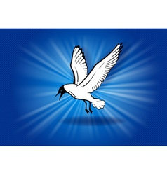 flying bird vector image