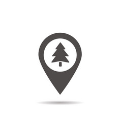 Forest location icon vector