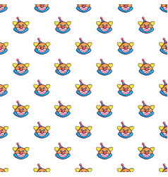 Funny clown head pattern vector