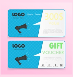 Gift voucher background or certificate coupon vector image