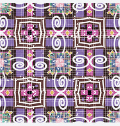 grunge striped tribal ethnic style geometric vector image