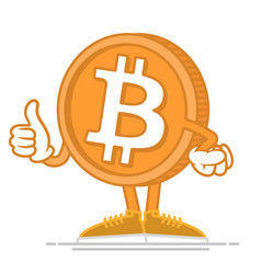 Happy bitcoin vector