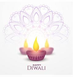 Happy diwali festival card celebration background vector