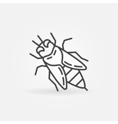 Honey bee linear icon vector