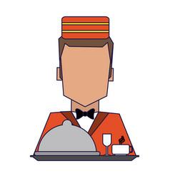 Hotel bellboy service vector