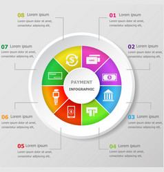 Infographic design template with payment icons vector