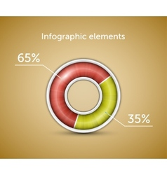 Infographic elements chart vector