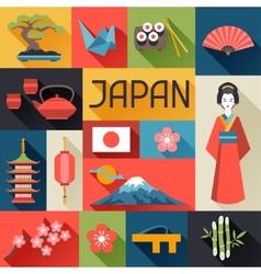 Japan background design vector